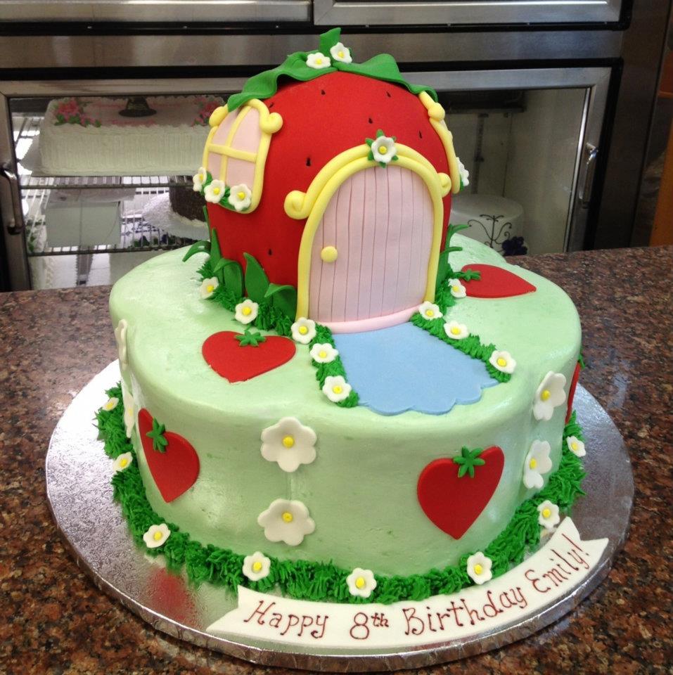 Strawberry Buttercream Birthday Cake Recipes — Dishmaps